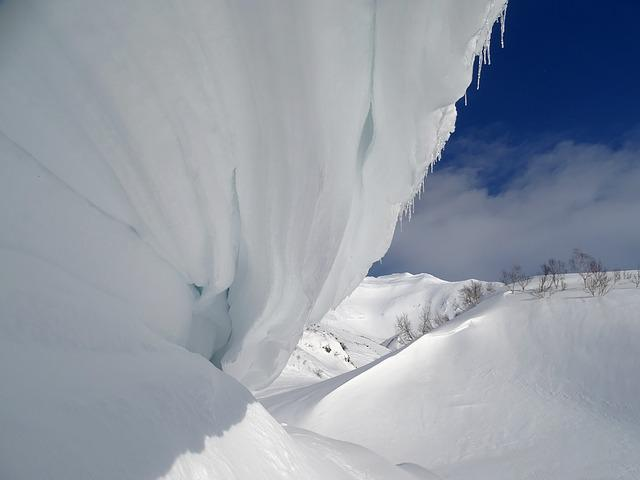Winter, Snow, Frost, Snow Cornices, Silt, Wind