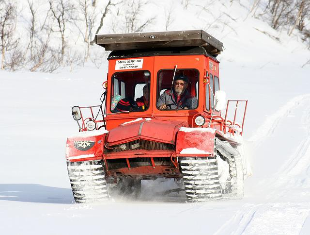 Winter, Snow Cat, Mountain, Transport, Snow, Snowmobile