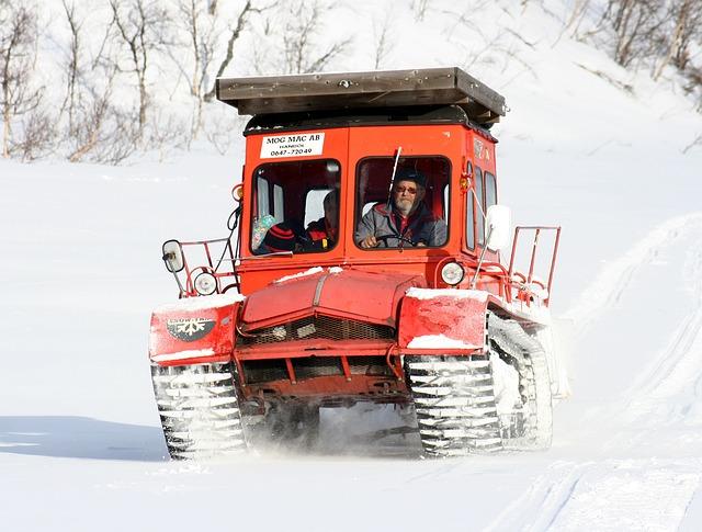 Winter, Snow Cat, Mountain, Transport, Snow, Snowmobile