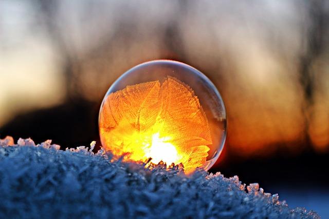 Eiskristalle, Soap Bubble, Winter, Frozen, Snow, Frost