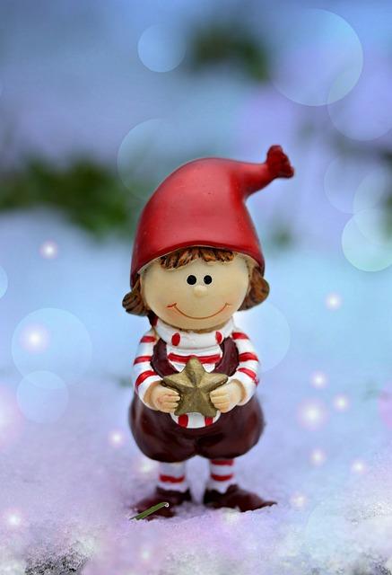 Figurine, Elf, Winter, Snow, Star, Cute