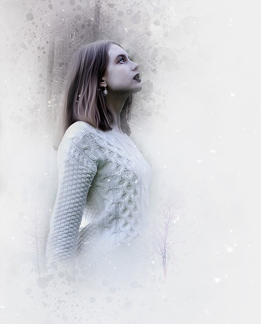 Winter, Woman, Snow, Fashion, Cold, Ethereal, Surreal