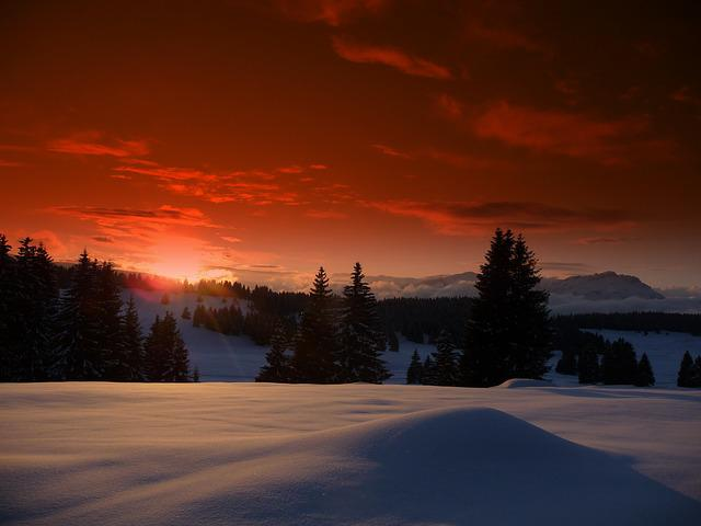 Luserna, Trentino, Snow, Sunset, Mountain, Winter