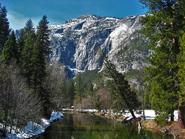 Yosemite, Snow, Snowmelt, Water, Water Surface