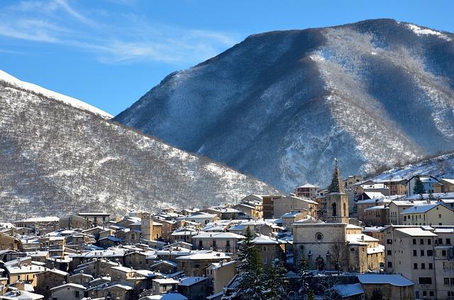 Scanno, Abruzzo, Snow, Winter, Town, Italy