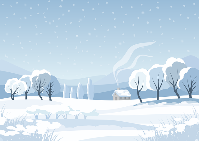 Illustration, Background, Landscape, Winter, Snow, Cold