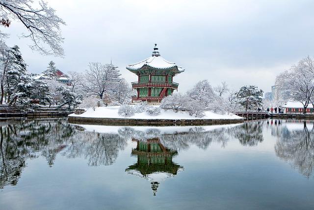 Gyeongbok Palace, Towards The Garden, Snow, Winter