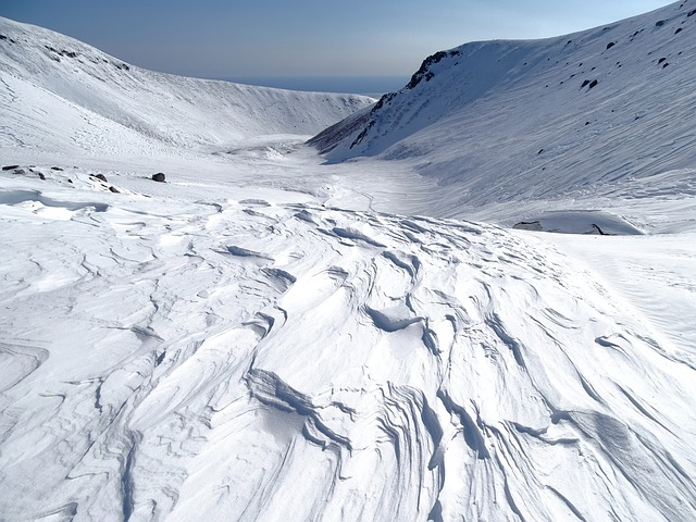 Mountains, Volcano, The Foot, Winter, Snow, Pass