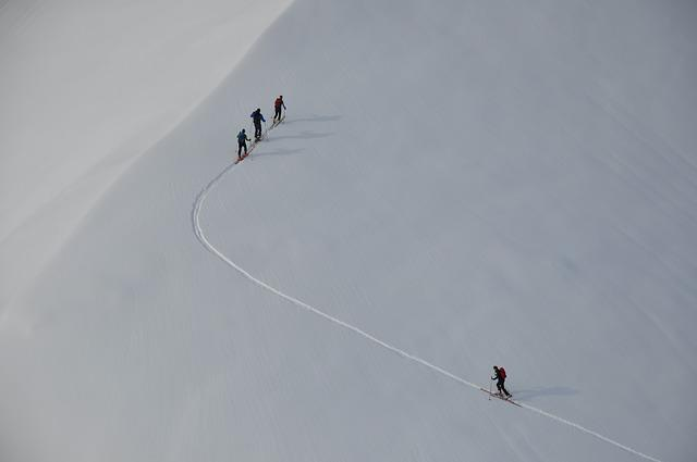 Backcountry Skiiing, Winter, Snow, Wintry, Mountain
