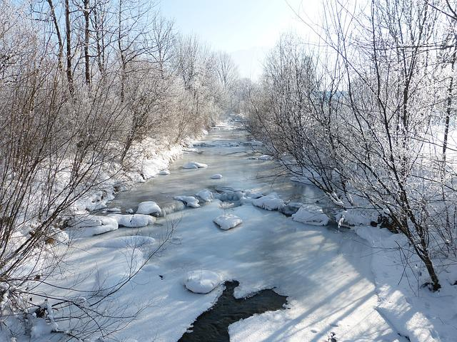Winter, River, Frozen, Snow, Bank, Nature, Wintry