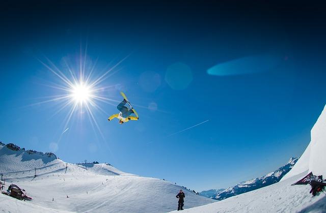 Big Air, Snow, Snowboard, Snowboarding, Snowboarder