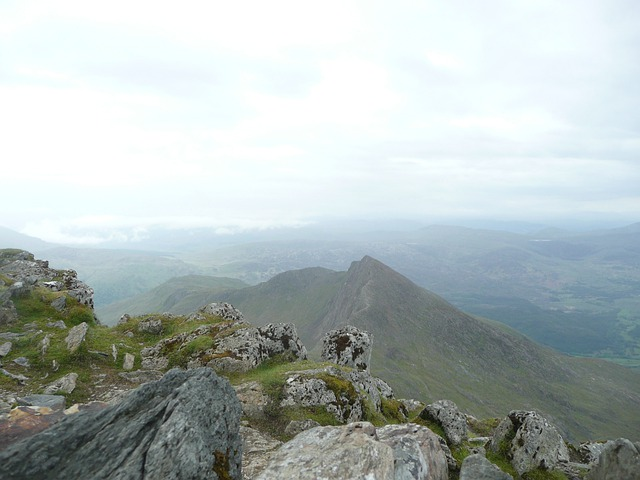 Wales, Snowdon, Mountain, Sky, Clouds, Outside, Nature