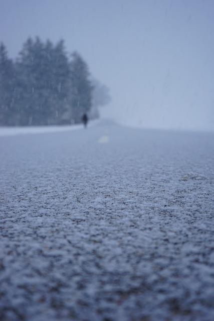 Road, Snowy, Snowfall, Snowflakes, Flake, Blizzard