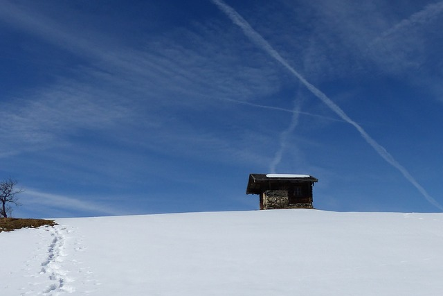 Senner Hut, Hill, Azure, Snowfield, Winter, Snow