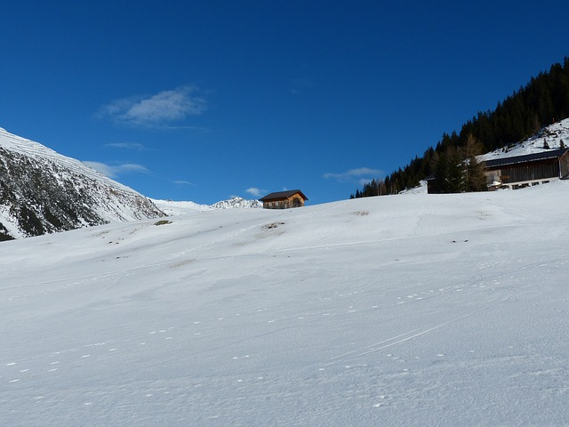 Snowfield, Winter, Alps