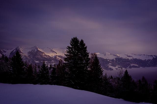Landscape, Wintry, Winter, Snow, Mountains, Snowy