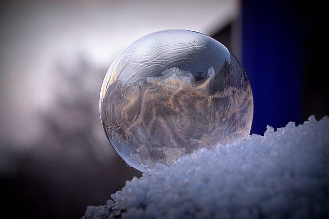 Free Photo Frozen Ice Crystal Cold Ice Frozen Bubble Frost