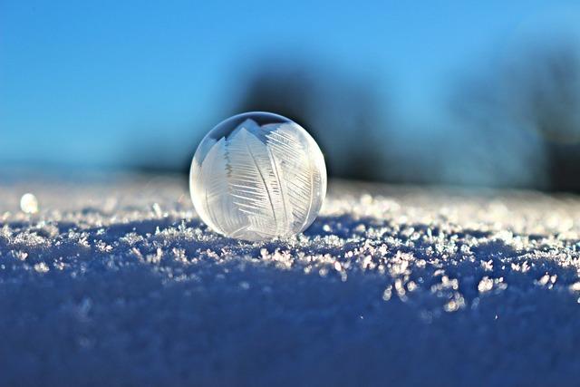 Soap Bubble, Bubble, Eiskristalle, Snow, Winter, Frozen