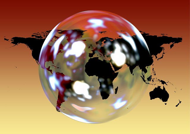 Earth, Soap Bubble, Continents, Globe, World, Global