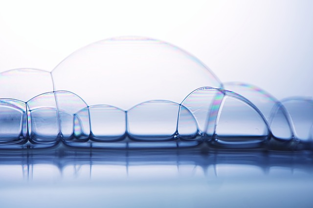 Soap Bubbles, Water Surface, Background Image
