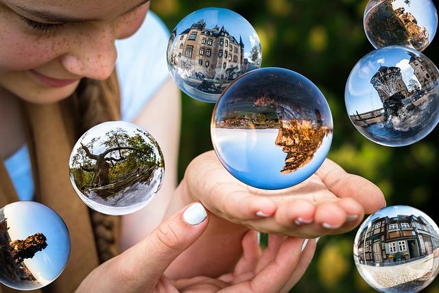 Glass Ball, Soap Bubbles, Float, Flying, Fortune Teller