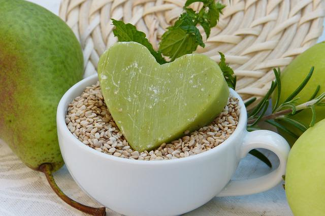 Soap, Green, Sesame, Pear, Apple, Cup