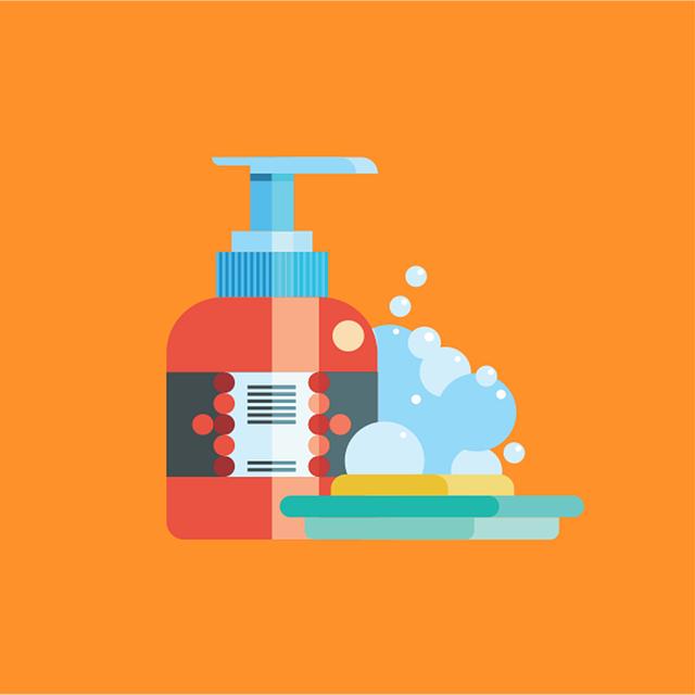 Soap, Bath, Shampoo, Orange Soap