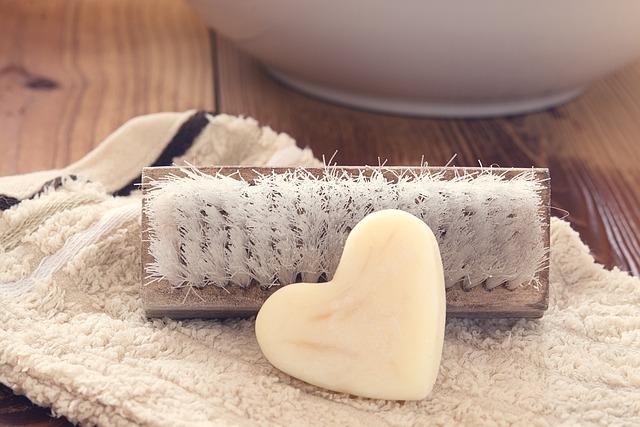 Hand Brush, Wash Brush, Soap, Heart Soap, Washcloth