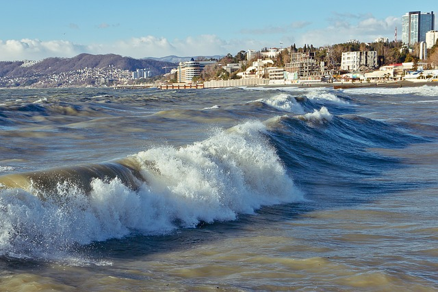 Sea, Sochi, Wave, Storm, Black Sea
