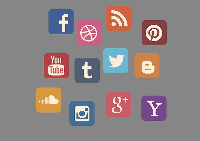 Icon Set, Social Media, Contact, Web, News, Blog