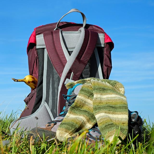 Backpack, Hiking Shoes, Socks, Hiking, Break, Rest