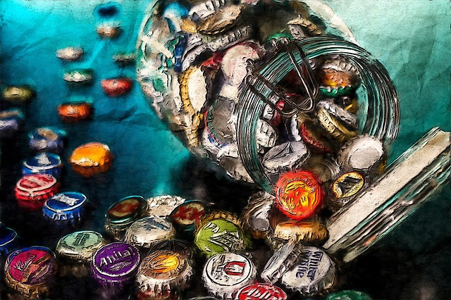 Jar Of Memories, Bottle, Soda, Soft-drink, Cup, Led