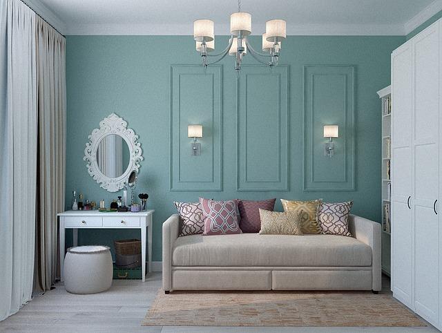Lounge, Room, Apartment, Classic, Sofa, Dressing Table