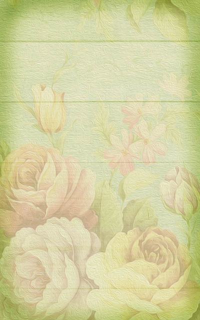 Soft, Pastel, Roses, Background, Romantic, Vintage