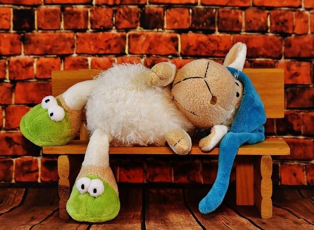 Sheep, Sleepyhead, Funny, Stuffed Animal, Soft Toy