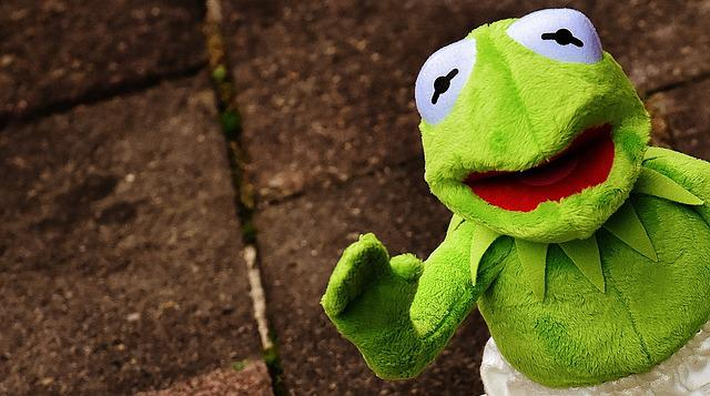 Kermit, Frog, Funny, Wave, Fun, Soft Toy