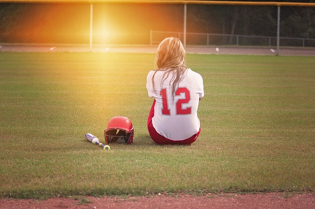 Softball, Player, Girl, Bat, Uniform, Teen, Female