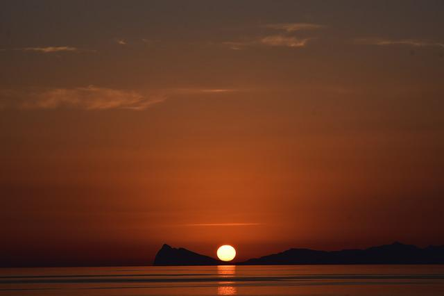 Solar Air Marine Island A Reflection, Sunset, Dawn