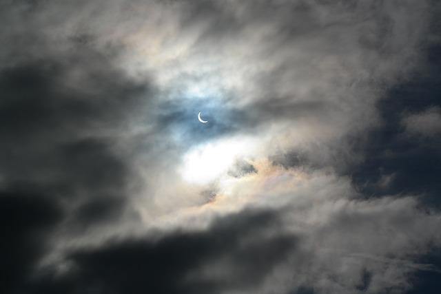 Solar Eclipse, Eclipse, Solar, Clouds, Sky, Sun