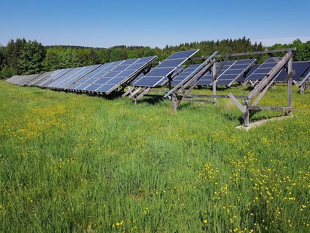 Solar Field, Meadow, Energy, Current, Solar Energy