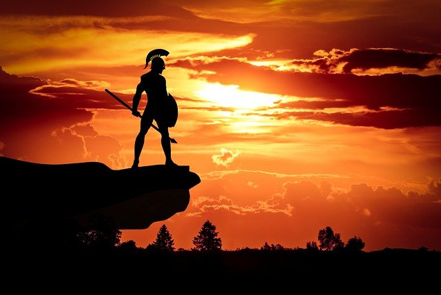 Spartan, Army, Sun, Dusk, Roman, Soldier, Shield, Hero