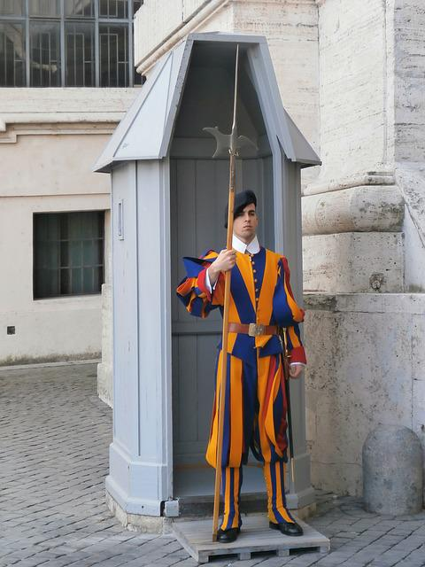 Swiss Guards, Basilica, Soldier, Rome, The Vatican