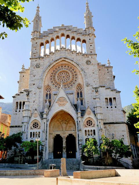Spain, Mallorca, City, Sóller, Cathedral