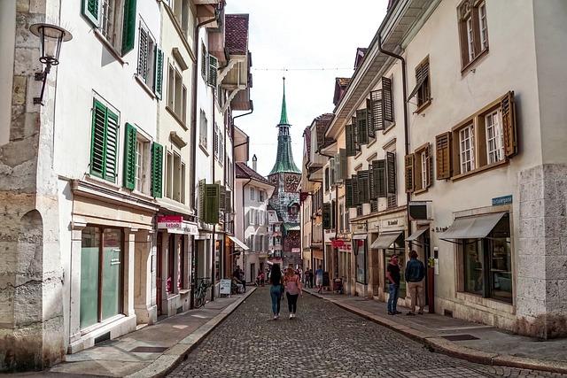 Alley, Historic Center, Solothurn, Switzerland
