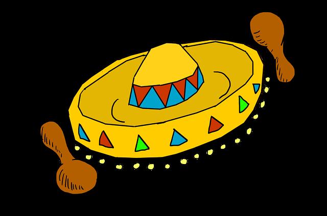Sombrero, Hat, Mexican Hat, Mexico, Straw Hat, Maraca