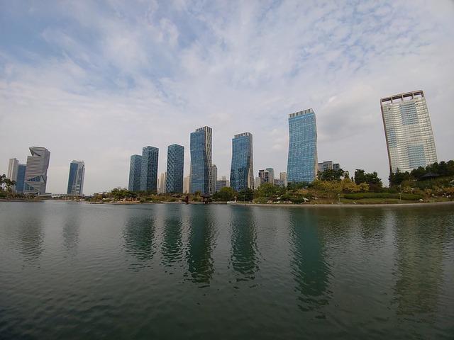 Songdo, Park, Incheon, City, Korea, Landscape, Urban