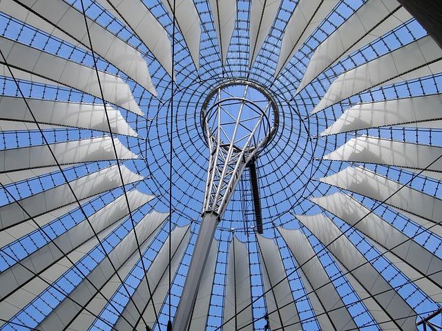 Berlin, Germany, Sony Center, Roof, Ornate