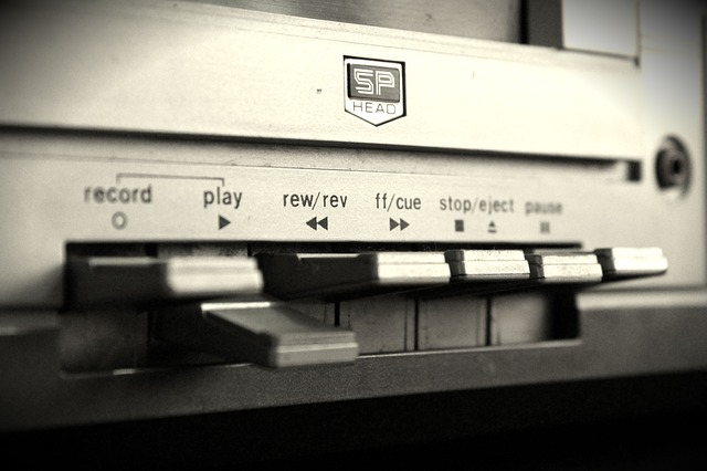 Record Player, Jukebox, Tape, Black And White, Sound