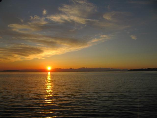 Alki Beach, Seattle, Alki, Beach, Puget, Sound