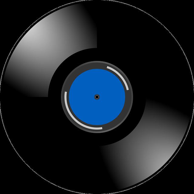 Vinyl, Record, Sound, Music, Retro, Blue, Shiny